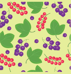 cartoon fresh berry fruits in flat style seamless vector image