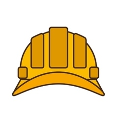Cartoon helmet head protective industrial design vector