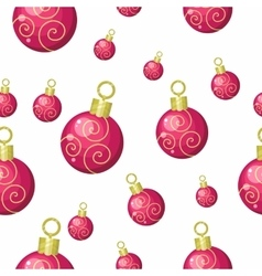 Christmas tree toys seamless pattern vector