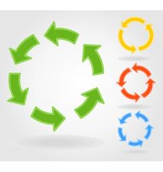 Circulation arrow vector