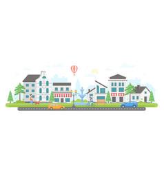City life - modern flat design style vector