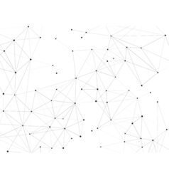 Connected dots background vector