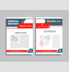 design brochure layout with place for your data vector image vector image