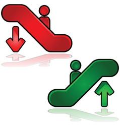 escalators signs vector image vector image