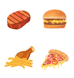 Fat food icon cartoon vector
