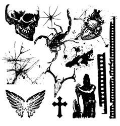 halloween grunge vector image