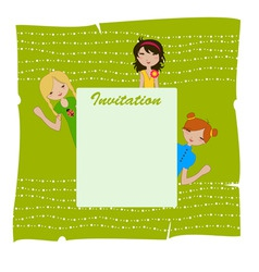 invitation frame vector image vector image