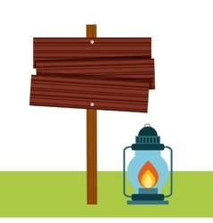 Lamp of camping design vector