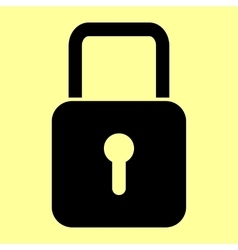 Lock sign Flat style icon vector image