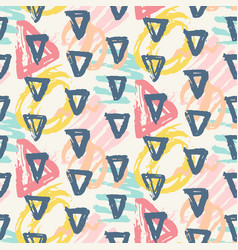 Modern seamless pattern geometric shapes vector