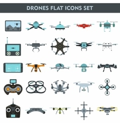 Quadcopters and drones vector image