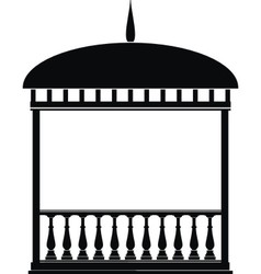 rotunda arbour black vector image