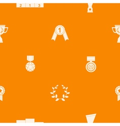seamless background with awards vector image vector image