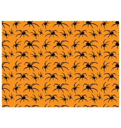 Seamless pattern halloween spiders vector
