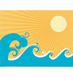 Stylized ocean graphic vector