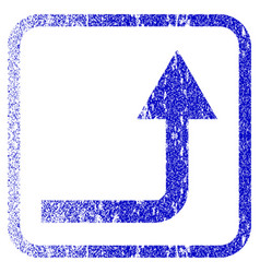 Turn forward framed textured icon vector