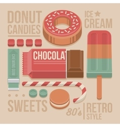 Confectionery vintage cover vector