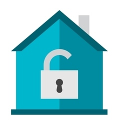 Home lock icon vector