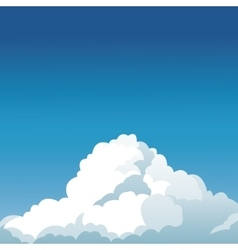 clear blue sky cloud design vector image