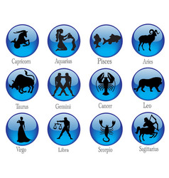 Signs of zodiac buttons vector