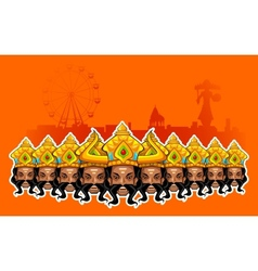 Happy dussehra holiday vector