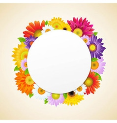 Colorful gerbers flower vector