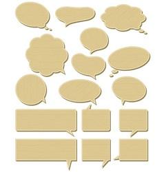 sixteen wooden labels Bubble vector image