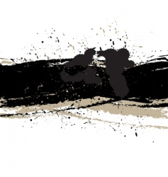 grunge background with ink vector image
