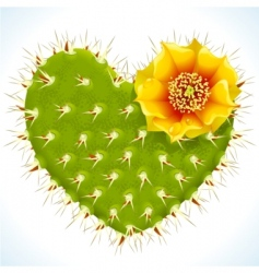 thorny heart vector image