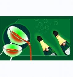 Goblet of wine vector