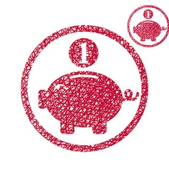 Piggy bank coins cash money savings theme simple vector