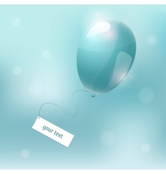Balloon blue air ball vector