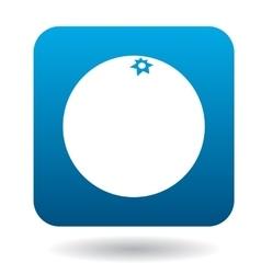 Orange icon in flat style vector