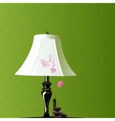 Bedroom lamp vector
