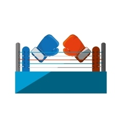 Boxing quadrilateral isolated icon vector image vector image
