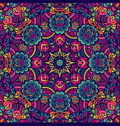 Colorful geometric seamless pattern indian mandala vector