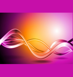 Colorful waves abstract backdrop vector image vector image