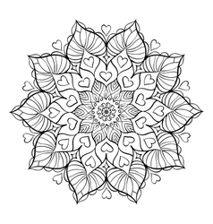 Coloring book for adults vector