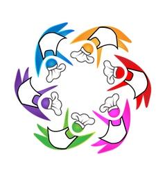 Cookers teamwork icon logo vector