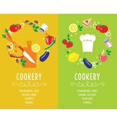 Cooking collection compositsion vector image vector image