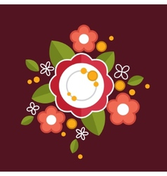 Decorative colorful floral composition Flat design vector image vector image