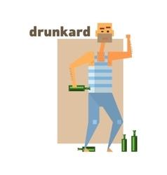 Drunkard abstract figure vector