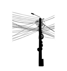 electric pole vector image