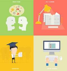 Element of education tutorial traning concept icon vector