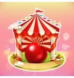 Fruit jam poster cherry vector image vector image