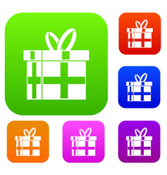 gift in a box set collection vector image