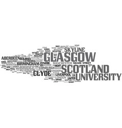 Glasgow word cloud concept vector