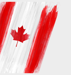 Grunge canadian flag background with watercolor vector