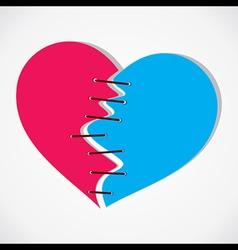 Join breaking heart concept vector