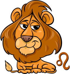 leo or the lion zodiac sign vector image vector image